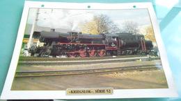 DCARTE DEPHOTO DE TRAIN N° DE CASIER 1PHOTO 250 X 185 - Trains