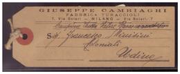 Italien (007596) Einschreiben Paketanhnger Gelaufen Milano Nach Udine Am 19.10.1917 - Italia