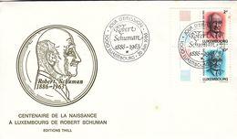 Idées Européennes - Luxembourg - Lettre De 1963 - Oblit Luxembourg - Robert Schumann - Timbres Du Carnet - Booklets