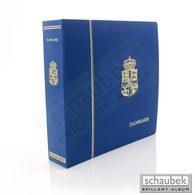 Schaubek Dsp806 Ganzleinen-Schraubbinder Mit Länder- Und Wappenprägung Auf Rücken Und Vorderseite Danmark Blau - Groß, Grund Schwarz