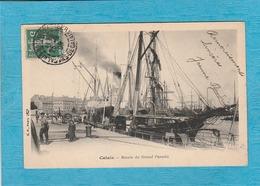 Calais, 1908. - Le Bassin Du Grand Paradis. - ( Bateaux ). - Calais