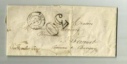 12 Oct. 1858 -NOAILLES - Cachet à Date- TAXE 30 - - Postmark Collection (Covers)