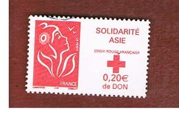 FRANCIA (FRANCE) -  YV 3745   -           2005 RED CROSS FUND: SOLIDARITY ASIA  - USED - Francia