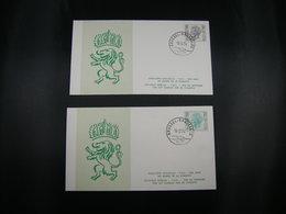 "BELG.1974 1743 & 1744 ""Koning Boudewijn- Roi Baudouin"" FDC Brus/Brux - FDC"