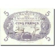 Martinique, 5 Francs, Undated (1934-1945), SUP, KM:6 - France