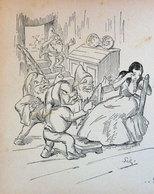 BIANCANEVE E I SETTE NANI SILIPIGNI IMMAGINE DA CARTACEO D'EPOCA PICTURE OF VINTAGE PAPER - Victorian Die-cuts
