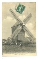 EN BEAUCE MOULIN A VENT CLICHE PISSOT COUSIN AUNEAU AGRICULTURE METIER - France