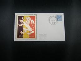 "BELG.1974 1745 ""Cijfer Op Heraldieke Leeuw/Chiffre Sur Lion Héraldique"" FDC Brux/Brus : ZIJDE-SOIE - FDC"