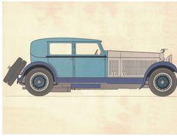 HISTOIRE DE L'AUTOMOBILE HISPANO SUIZA 45. 1928 FRANCE  / LES LABORATOIRES ROUSSEL Bd DES INVALIDES PARIS - Publicités
