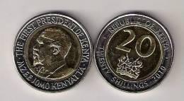 Kenya 20 Shillings 2010. UNC Bimetallic Bimetal - Kenya