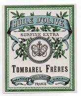 - ALIMENTATION - HUILE D'OLIVE SURFINE EXTRA - TOMBAREL FRÈRES - GRASSE - - Etiquettes