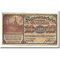 Billet, Autriche, Gossam, 10 Heller, Eglise, SPL, Mehl:FS 252b - Oesterreich