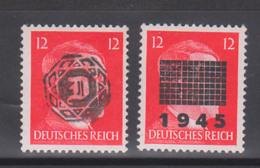 Löbau, Netschkau Lokalausgabe 2 Werte, Hitler Mit Überdruck 6.5.1945 Ungebraucht Mit Restfalz - Zone Soviétique