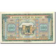 Billet, Maroc, 100 Francs, 1943, 1943-08-01, KM:27A, TTB+ - Maroc