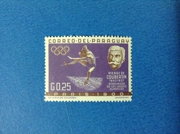 1963 PARAGUAY 0.25 G PIERRE DE COUBERTIN FRANCOBOLLO LINGUELLATO STAMP NEW MLH - Paraguay