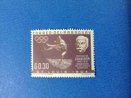 1963 PARAGUAY 0.30 G PIERRE DE COUBERTIN FRANCOBOLLO LINGUELLATO STAMP NEW MLH - Paraguay