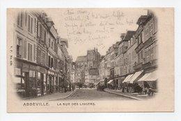 - CPA ABBEVILLE (80) - La Rue Des Lingers 1902 - Edition V. P. 639 - - Abbeville