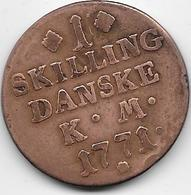 Norvège - 1 Skilling - 1771 - Norvegia
