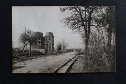 Carte Photo Militaire MESVES Sur LOIRE Construction Du Camp Américain Château D'eau Wagonnet Militaria Guerre 14-18 WWI - Autres Communes