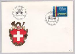 Beleg Automobilsalon Genf 1980 (br5495) - Briefe U. Dokumente