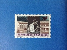 1964 RWANDA REPUBLIQUE RWANDAISE 20 C UNIVERSITA' MEDICINA FRANCOBOLLO LINGUELLATO STAMP NEW MLH - Rwanda