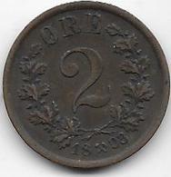 Norvège - 2 öre - 1883 - Norvège