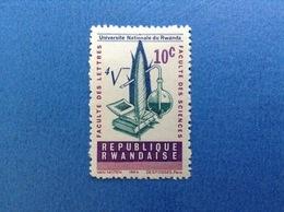 1964 RWANDA REPUBLIQUE RWANDAISE 10 C UNIVERSITA' LETTERE SCIENZE FRANCOBOLLO LINGUELLATO STAMP NEW MLH - 1962-69: Nuovi