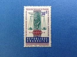 1964 RWANDA REPUBLIQUE RWANDAISE 30 C UNIVERSITA' LETTERE SCIENZE FRANCOBOLLO LINGUELLATO STAMP NEW MLH - 1962-69: Nuovi
