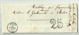 23.04.1853 - FROISSY-  Oise - Franconville -taxe 25 - Postmark Collection (Covers)