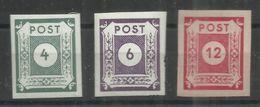 """Sowjetische Zone 61-63  """"3 Briefmarken Im Satz: Ziffernserie Ost.Sachsens, Geschnitten """" Postfrisch Mi.:1,10 - Zona Soviética"""