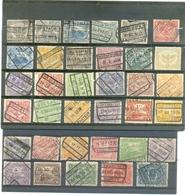 "Petit Lot BELGIQUE "" CHEMIN DE FER "" 35 Timbres - Lots & Kiloware (mixtures) - Max. 999 Stamps"