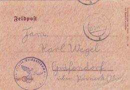 German Feldpost WW2: From Mlawa, Poland - Panzer Grenadier Bataillon 8 In Mielau Nord P/m 25.2.1944 - Letter - Militaria