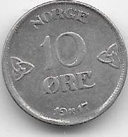 Norvège - 10 öre - 1917 - Norvège
