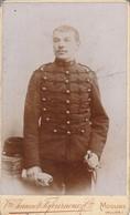 Photo : C.D.V. : Militaire : Soldat - 13é Régt. à Définir : Poto.  Vve. JEANNOT-FAFOURNOUX & Cie :  Moulins : Allier - Guerre, Militaire