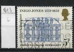 Grande Bretagne - Great Britain - Großbritannien 1973 Y&T N°693 - Michel N°631 (o) - 5p Inigo Jones - 1952-.... (Elizabeth II)