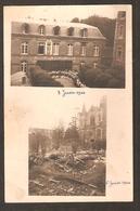 RARE - Carte Photo - Communauté Du Sacré-Coeur De Coutances Avant Et Après Le Bombardement ( 3 Et 6 Juin 1944) - Coutances