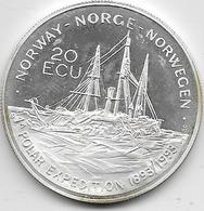 Norvège - 20 Ecus - 1993 - Argent - Norvège