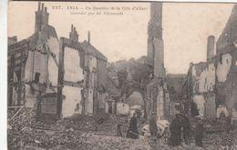 Cp , MILITARIA , 1914 , Un Quartier De La Ville D'ALBERT Incendié Par Les Allemands - Guerra 1914-18