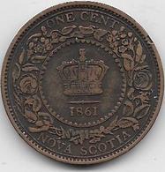 Nouvelle Ecosse - 1 Cent - 1861 - Monnaies