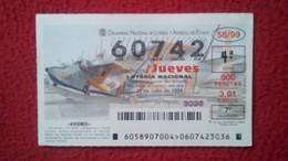 SPAIN DÉCIMO DE LOTERÍA LOTTERY LOTERIE AVIÓN AVIONES AIR PLANE AIRPLANE AVIACIÓN AVIATION GRUMMAN ALBATROSS HU-16-B VER - Billetes De Lotería