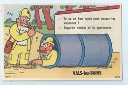 Cpa  -07  - Vals Les Bains   -   - Carte A Systeme     - Animation   -  19?? - - Vals Les Bains