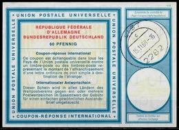 2282 LIST 15.11.68 ( SYLT ) Auf International Reply Coupon Reponse Antwortschein IAS IRC Deutschland Für Die Heimatsamml - Poststempel - Freistempel