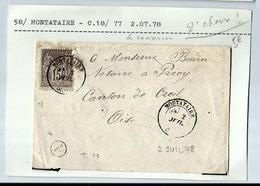 2 Juillet 1878 - MONTATAIRE - Marcophilie (Lettres)