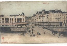 BELFORT LE ...  AVENUE CARNOT . CARTE COLORISEE AFFR AU VERSO LE 13 JUIN 1906 . 2 SCANES - Belfort - City