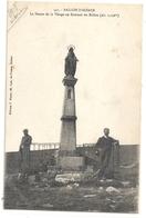 542. BALLON D'ALSACE - LA STATUE DE LA VIERGE AU SOMMET DU BALLON + 2 PERS . ECRITE AU VERSO EN 1918 - Autres Communes