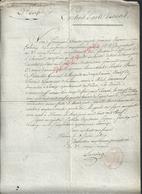 MILITARIA DOCUMENT MILITAIRE TYPE CERTIFICAT DE DECÉ D UN SOLDAT ARMÉE D ALL ? 2e CORPS + TAMPON  VIENNE ? 1809 LIRE: - Documentos
