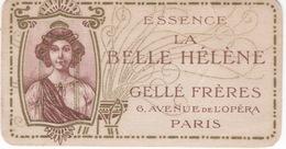 """Calendrier Petit Format 1908 """" La Belle Hélène """" Gellé Frères Av. De L'Opéra à Paris ( Thème Art Nouveau ) - Calendarios"""