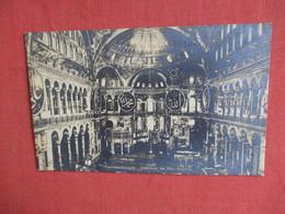 Constantinople Interior De Ste Sophie   RPPC-- Ref 3140 - Turkey