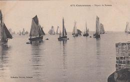 Cp , TRANSPORTS , CONCARNEAU , Départ De Bateaux - Voiliers