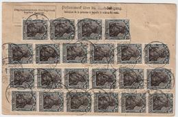 1922, Paketkarte , Massen MeF    , #a1833 - Briefe U. Dokumente